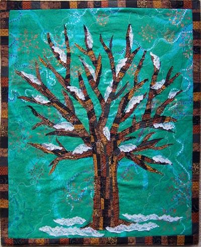 Winter Tree Collage